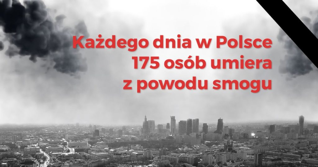 Liczba osób, które umierają każdego dnia przez smog w Polsce